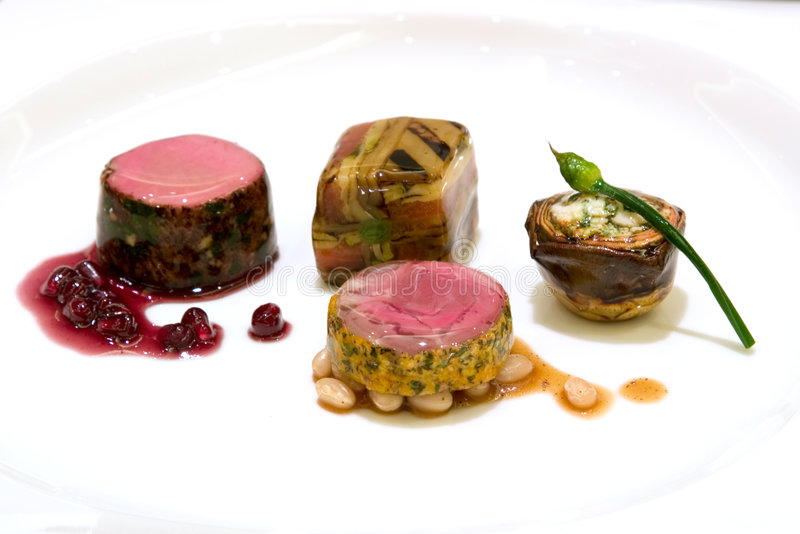Het fijne dineren - Voorgerechten royalty-vrije stock afbeelding