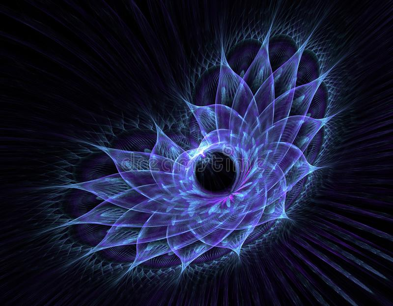 Het fijne fractal teruggeven stock illustratie