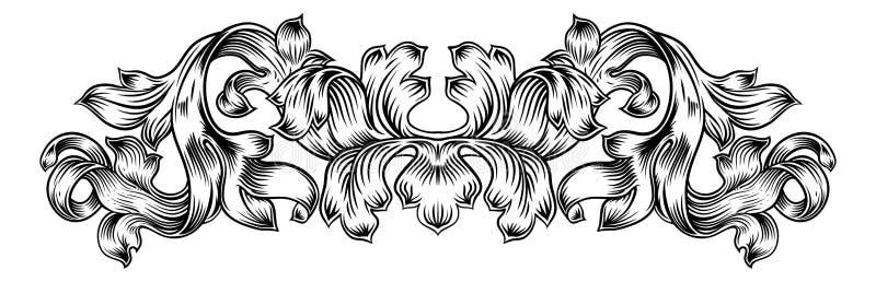 Het filigraan Uitstekende Blad Laurel Motif van de Patroonrol royalty-vrije illustratie
