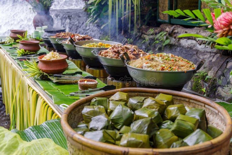 Het Filipijnse buffet van de stijllunch royalty-vrije stock fotografie