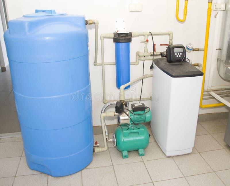 Het filtrerende systeem van het water royalty-vrije stock afbeelding