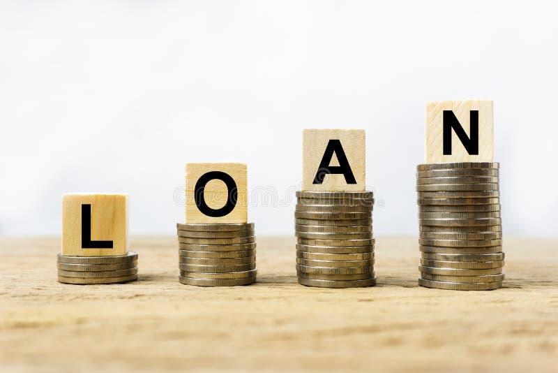 Het financiële concept van de leningsovereenkomst royalty-vrije stock foto