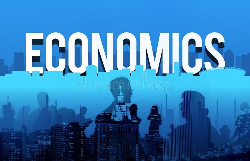 Het financiële Concept van het de Dollarteken van Economieactiva stock afbeelding