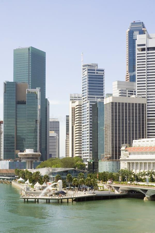 Het financiële district van Singapore stock foto's