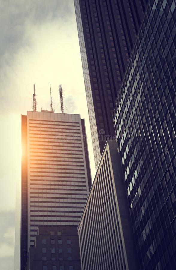 Het Financiële District van Toronto royalty-vrije stock afbeeldingen