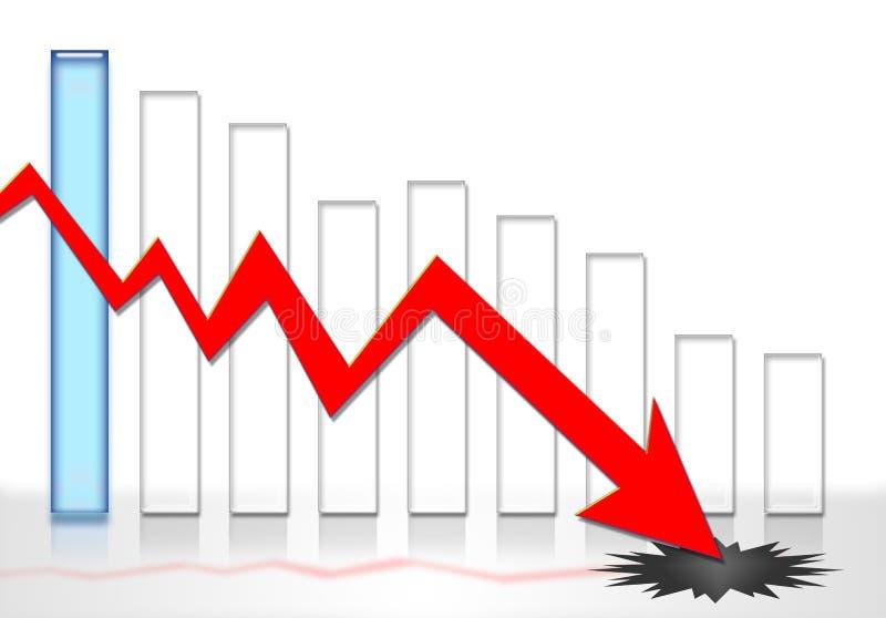 Het financiële kraken van het crisiskrediet vector illustratie