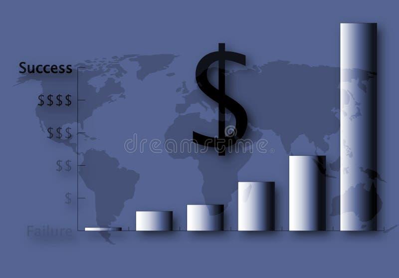 Het Financiële Succes van de V.S. stock illustratie