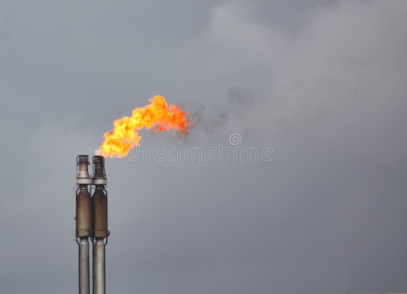 Het flakkeren van Aardgas royalty-vrije stock afbeelding