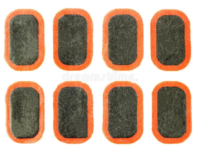 Het flard om rubberwielkamers, close-up te vernietigen, isoleert, lapt op royalty-vrije stock foto