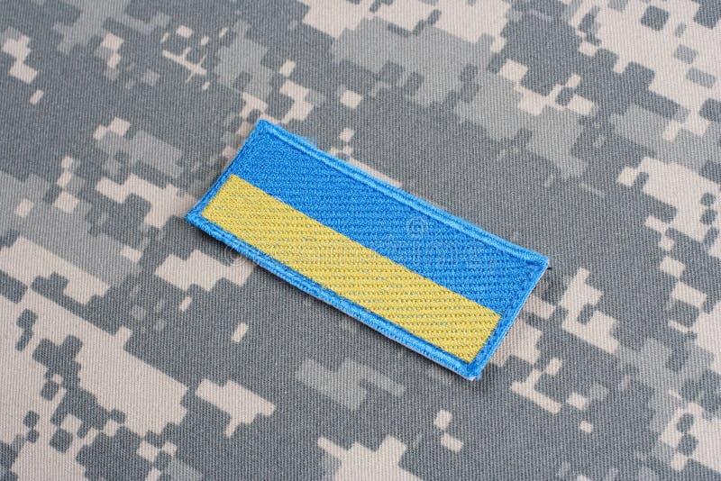 Het Flard van de het Legervlag van de Oekraïne royalty-vrije stock foto