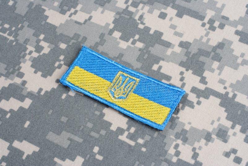 Het Flard van de het Legervlag van de Oekraïne stock foto's