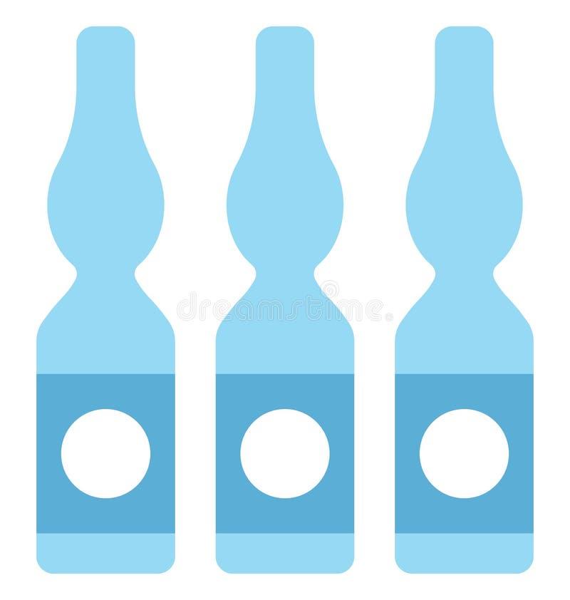 het flesje, injectieflesje, isoleerde Vectorpictogram dat gemakkelijk kan worden gewijzigd of flesje, injectieflesje, Geïsoleerd  stock illustratie