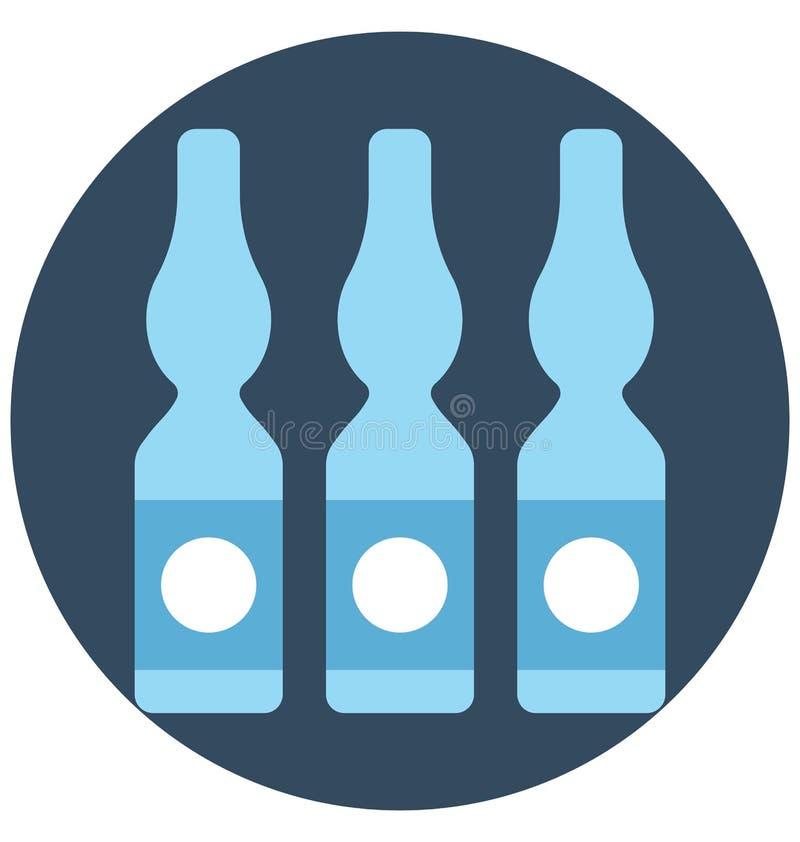 het flesje, injectieflesje, isoleerde Vectorpictogram dat gemakkelijk kan worden gewijzigd of flesje, injectieflesje, Geïsoleerd  royalty-vrije illustratie