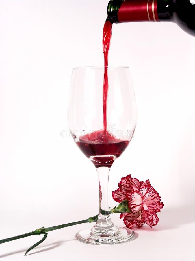 Het Flessenglas van de Wijn van de bloem royalty-vrije stock fotografie