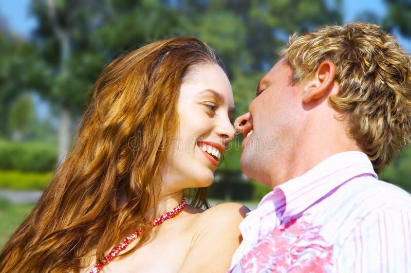 Het flirten van de zomer royalty-vrije stock foto's