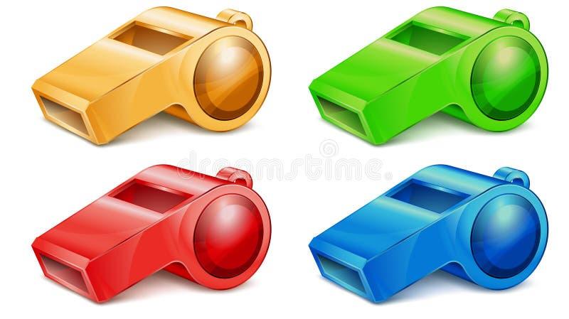 Het fluitje van de kleur vector illustratie