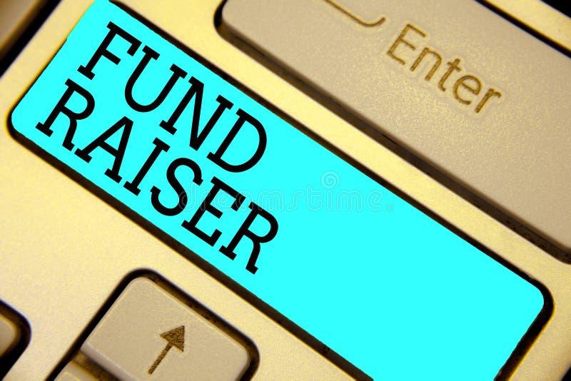Het Fonds van de handschrifttekst - fokker Het concept die persoon betekenen van wie baan of de taak is zoekt financiële steun vo stock illustratie