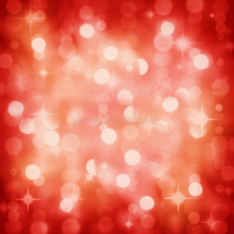 Het fonkelen steekt de rode partij van Kerstmis achtergrond aan