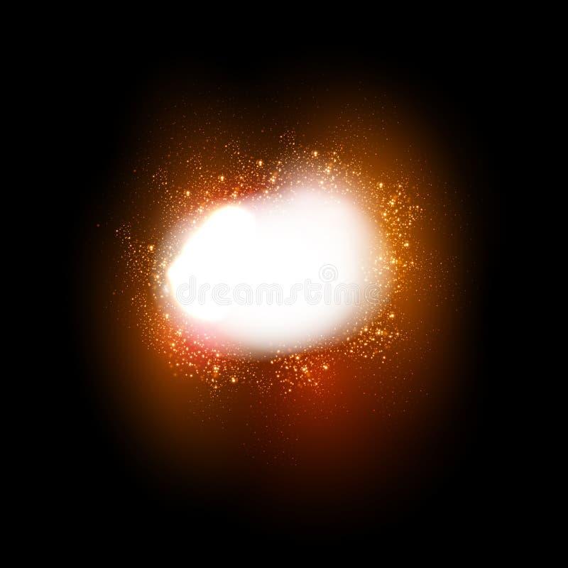 Het fonkelen sterren lichteffect royalty-vrije illustratie