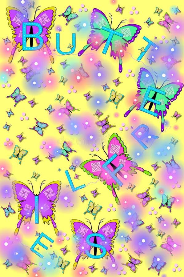 Het fonkelen Vlinders en Insecten royalty-vrije illustratie