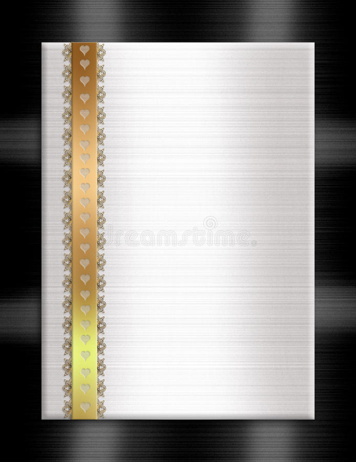 Het formele gouden zwarte wit van het uitnodigingsmalplaatje stock illustratie