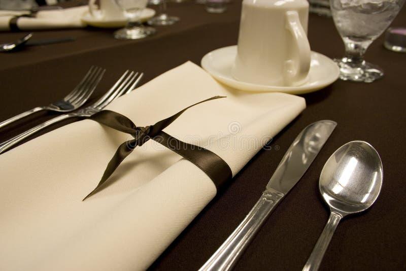 Het formele het dineren plaats plaatsen royalty-vrije stock fotografie