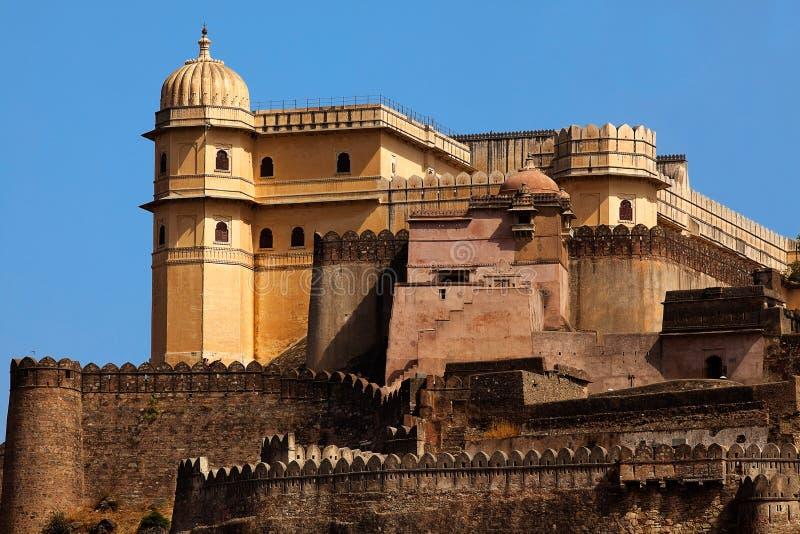 Het Fort India van Kumbhalgarh stock fotografie