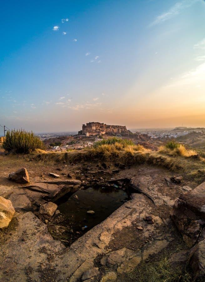 Het fort Jodhpur van Mehrangarh royalty-vrije stock afbeeldingen