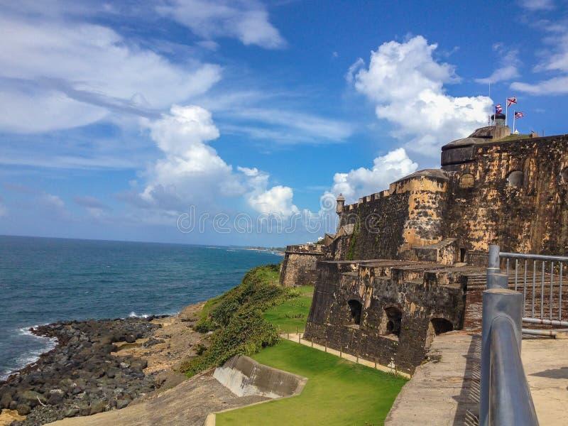 Het Fort San Juan Puerto Rico van 'Gr Morro ' stock foto's