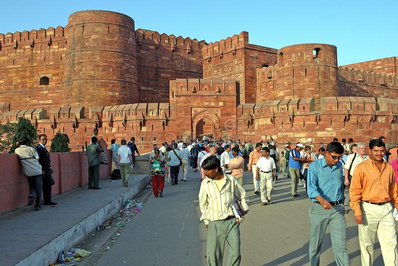 Het fort van Agra royalty-vrije stock fotografie