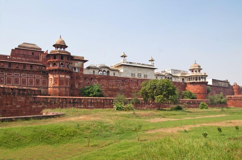 Het fort van Agra, India stock foto