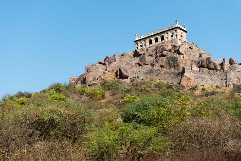 Het fort van de heuveltop royalty-vrije stock foto