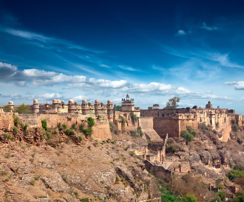 Het fort van Gwalior royalty-vrije stock afbeelding