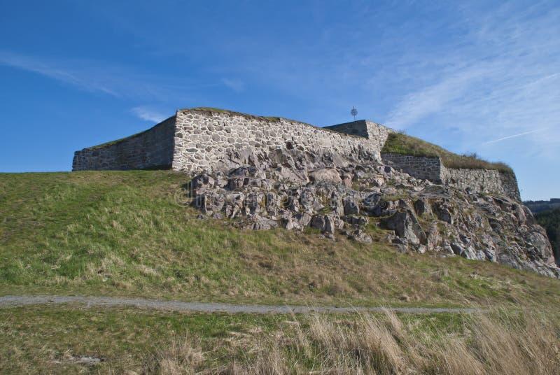 Het fort van Gyldenløve (gouden leeuw) stock fotografie