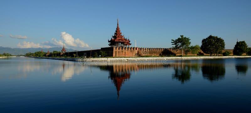 Het fort van Mandalay stock foto