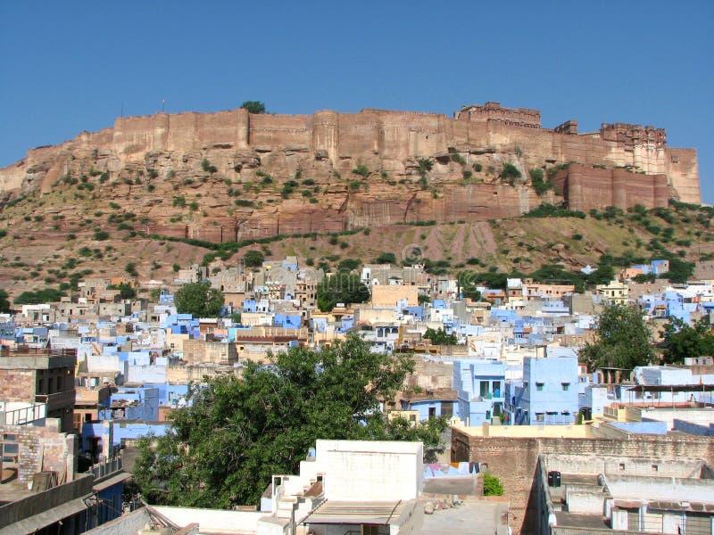 Het fort van Meherangarh stock fotografie