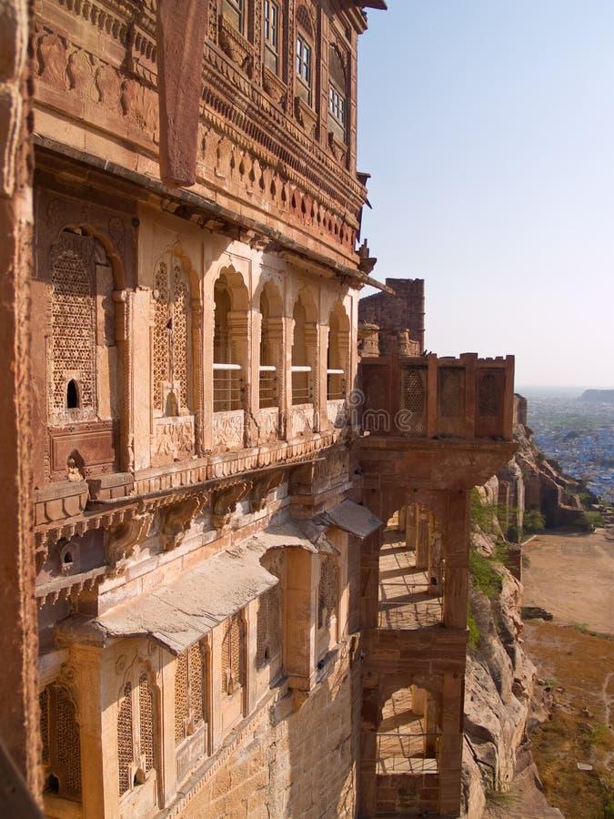 Het Fort van Mehrangarh, Jodhpur stock foto's