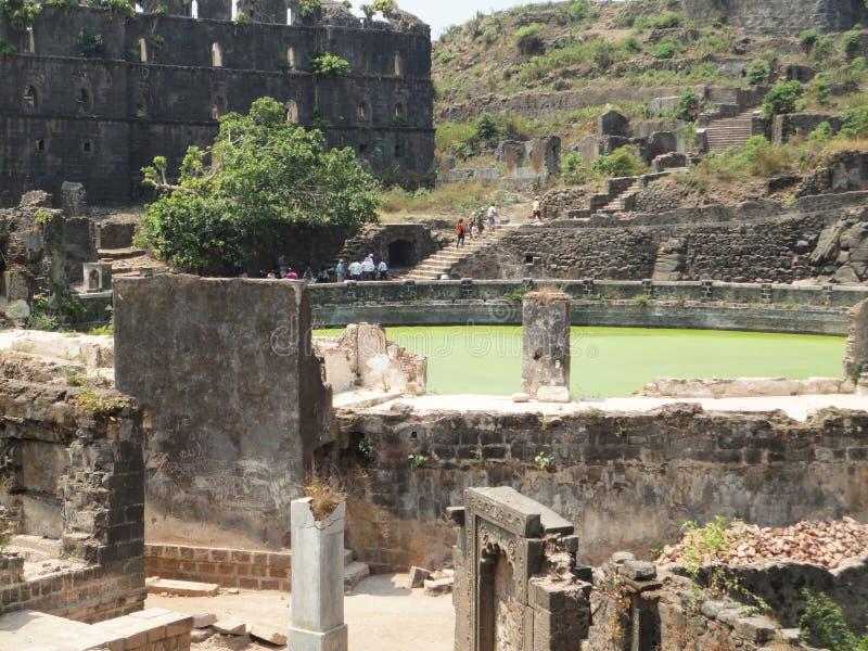 Het fort van Murudjanjira, Alibag India stock foto's