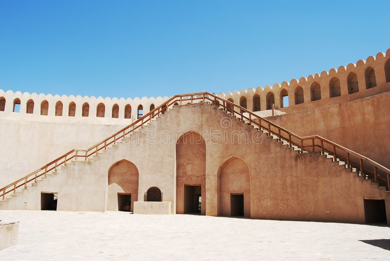 Het fort van Nizwra, Oman royalty-vrije stock afbeelding