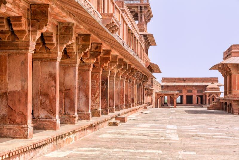 Het Fort van Sikri van Fatehpur stock fotografie