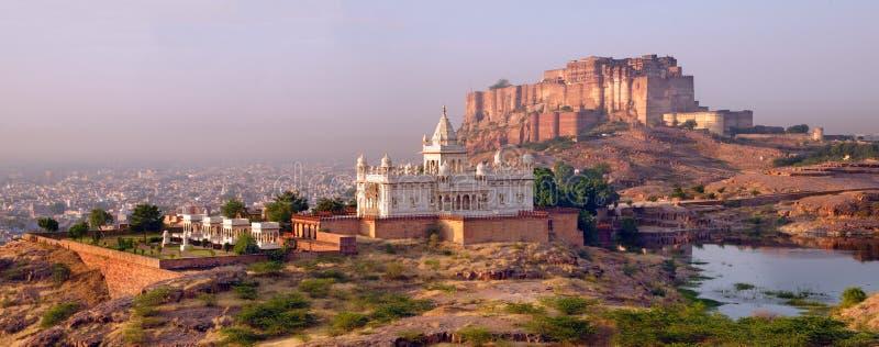 Het fortpanorama van Jodhpur stock foto's
