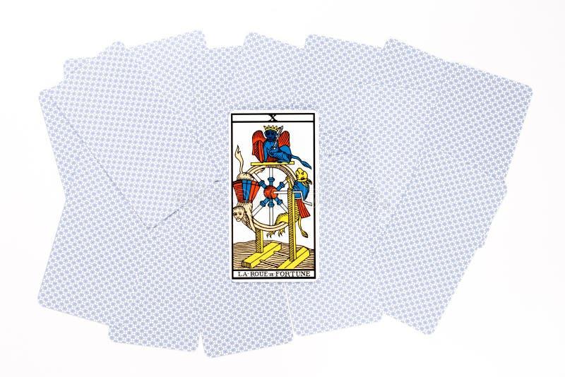 Het fortuin van de tarotkaart trekt royalty-vrije stock foto's