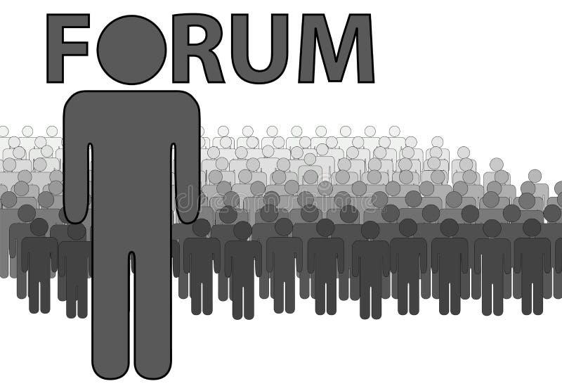 Het FORUM Admin van Internet en mensen dat gelezen posten royalty-vrije illustratie