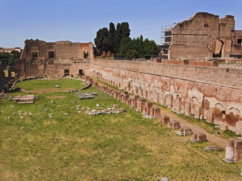 Het Forumstadion van Rome stock afbeeldingen