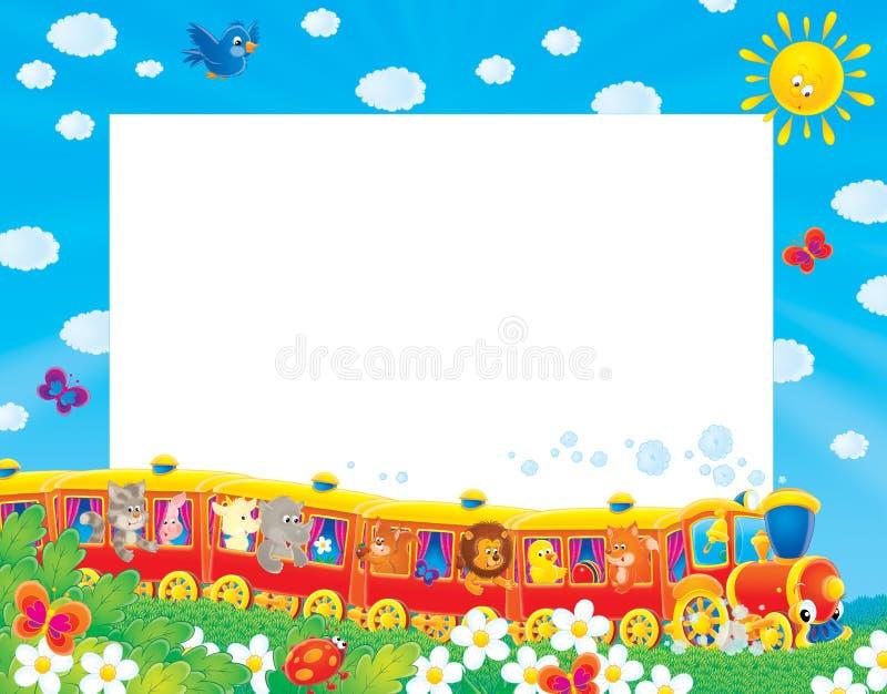 Het foto-kader/de achtergrond van de zomer stock illustratie