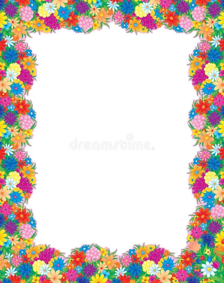 Het foto-kader van bloemen stock illustratie