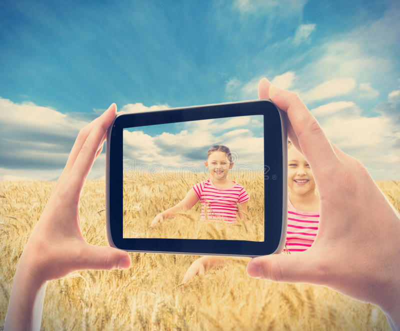 Het fotograferen van smartphone stock foto's