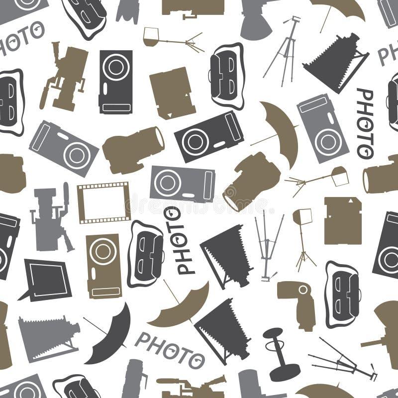 Het fotografische patroon eps10 van de pictogramkleur royalty-vrije illustratie