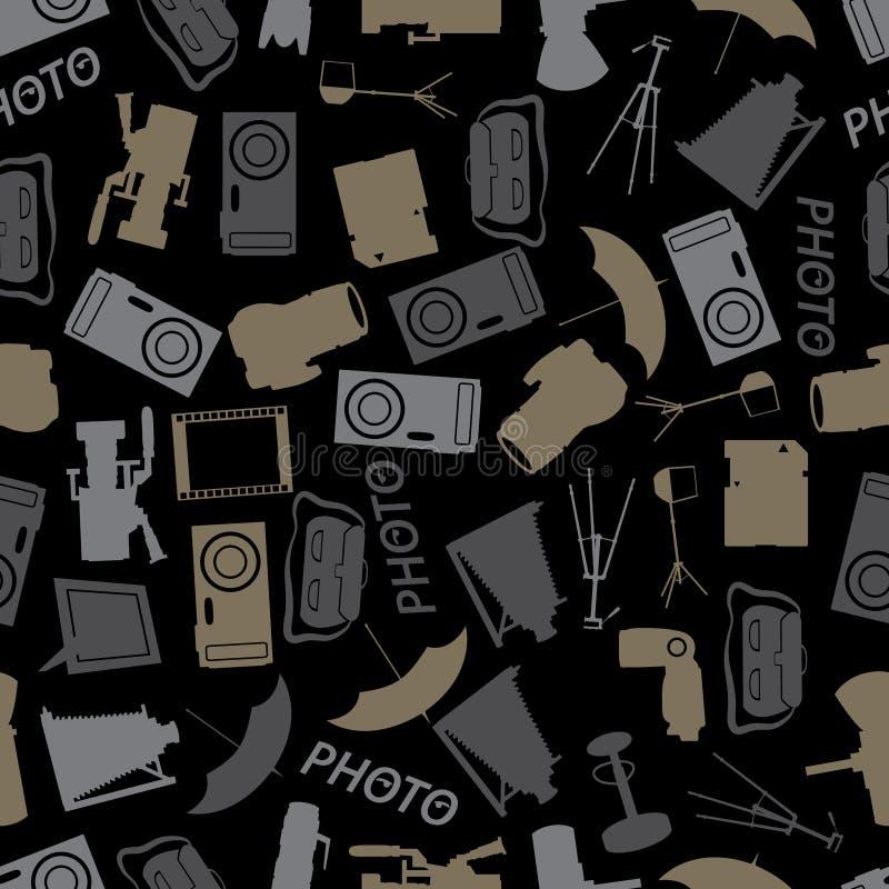 Het fotografische patroon eps10 van de pictogramkleur vector illustratie