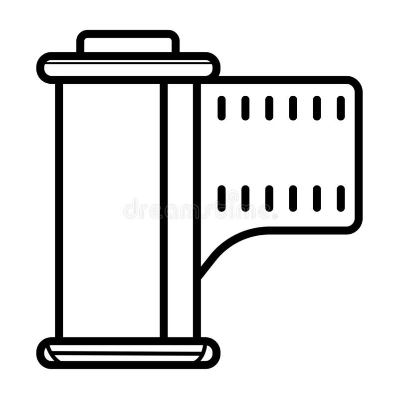 Het fotografische pictogram van de filmcassette vector illustratie